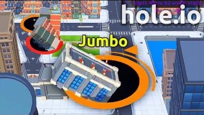 Hole.io - INSANE WIN IN NEW .IO GAME ( Hole.io World Record )