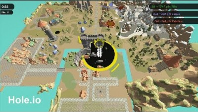 Hole.io Map Control: 100.00% World Record +3,000
