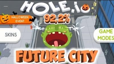 HOLE.IO NEW SKIN NEW HIGHSCORE (92,22%)