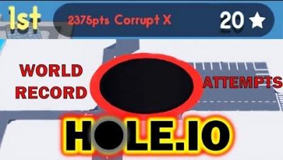 Hole.io - The Biggest Black Hole in the Entire Universe - Hole.io World Record Attempts (2,375)