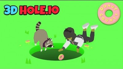HOLES EVOLUTION - Donut County All Levels! HOLE.IO in 3D? NEW .IO GAME!