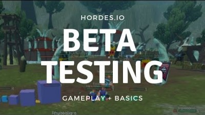 Hordes.io Beta Testing |  The Basics + Gameplay (1)