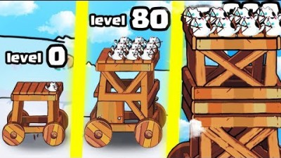 HOW STRONG IS THE HIGHEST LEVEL TOWER CASTLE EVOLUTION? (LEVEL 9999+ BIGGEST) l Cat'n'Robot: Defense