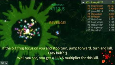 How to get fast a 300 multiplier with revenge kills? - The series - Frogar.io