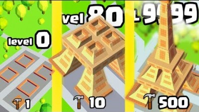 IS THIS THE HIGHEST HIGHEST LEVEL BUILDER LANDMARK EVOLUTION?? (9999 EIFFEL TOWER)l Idle Landmark #2