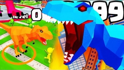 IS THIS THE HIGHEST LEVEL STRONGEST DINOSAUR T-REX EVOLUTION? (9999+ GROW LEVEL) l Dinosaur Rampage