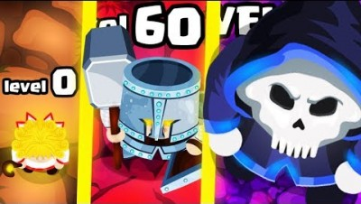 IS THIS THE STRONGEST HIGHEST LEVEL GIANT WARRIOR EVOLUTION? (9999+ WEAPON LEVEL) l MiniGaints.io