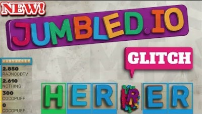 Jumbled.io - GLITCH! Unlimited Letters & Time (High score) - jumbled.io epic gameplay