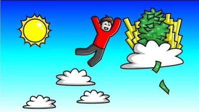 JUMPING 10 000 000 FEET in Cloud Simulator! // Roblox