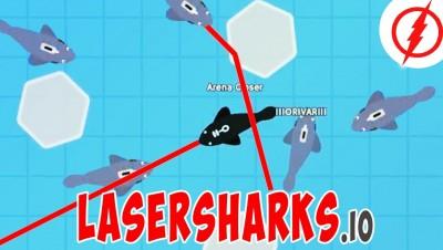 LaserSharks.io - New .io Game!!! Amazing Gameplay - Survival!