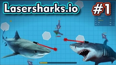 Lasersharks.io - TUBARÕES QUE DISPARAM LASER - Gameplay #1