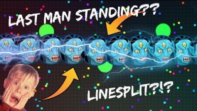 LAST MAN STANDING LINESPLIT!!? | Most Annoying Player EVER | Agar.io Gameplay