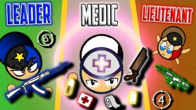 LEADER vs MEDIC vs LIEUTENANT! Surviv.io 50 vs 50 Battle Royale Best Moments!