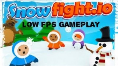 Low FPS Gameplay || Snowfight.io