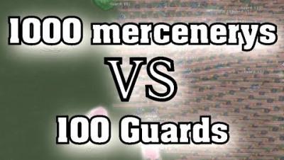 Mc AXE |  Масштабный бой в glor.io | 1000 наемников против 100 стражников в glor.io