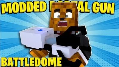 Minecraft Portal Gun Modded Battledome - Minecraft Modded Minigame