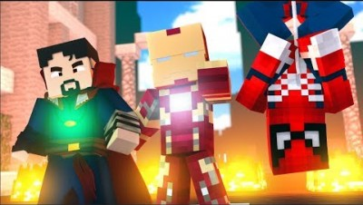 MINECRAFT THE AVENGERS END GAME MOD BATTLEDOME - MINECRAFT MODDED MINI-GAME