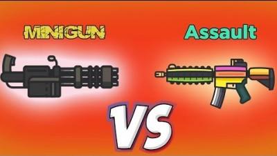 MiniGun vs Assault SUPERPOWER - Fortnite .io - Zombsroyale.io