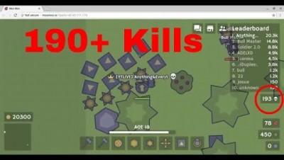 Moomoo.io  190+ Kills EPIC Gameplay Destroying Nebula Bots