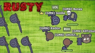 Moomoo.io - 5 Rusty Boys vs GMN