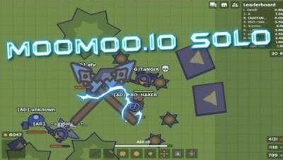 MooMoo.io Diamond Spear Boost Pad Attack | Solo