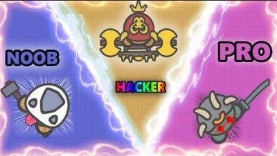 MOOMOO.IO PRO VS NOOB VS HACKER! FUNNY & BEST MOMENTS IN MOOMOO.IO! (MooMoo.io)