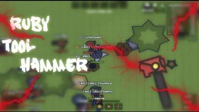 MooMoo.io Ruby Tool Hammer Gameplay   LvL 1 Challenge