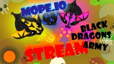 Mope.io Black Dragon LIVE Party