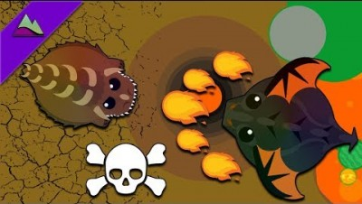 Mope.io - Dino Monster Kills Black Dragon with Ability! (Mope.io Best Moments)