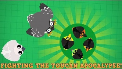 Mope.io Fighting The Toucan Apocalypse! + Toucan Trickshots! (Mope.io Beta update)