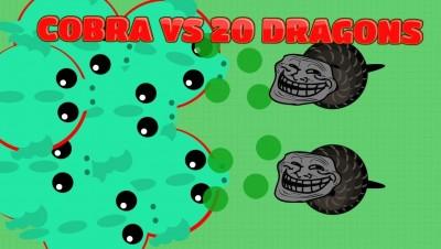 MOPE.IO FUNNIEST COBRA TROLL! Cobra Vs. 20 Dragons! (Mope.io New Update Trolling)