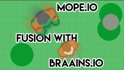 MOPE.IO FUSION WITH BRAAINS.IO ! // MOPE.IO FUNNY GAMEPLAY