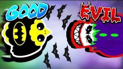 MOPE.IO HERO VS VILLAIN! BATMAN, THE JOKER AND CAPTAIN AMERICA SKINS HIGHLIGHTS (Mope.io Trolling)