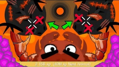 Mope.io I KILLED 2 BLACK DRAGONS AS KING CRAB *ONE HIT* = INSTANT 1 BILLION XP WORLD RECORD (Mopeio)