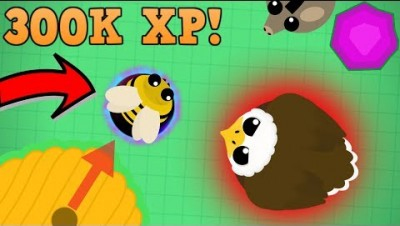 Mope.io Killing A 300K XP Bee! + Land Monster Gameplay And Soccer World Record..(Wild Mope Gameplay)