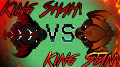 mope.io | King Stan VS King Shah | Epic developer skin gameplay!