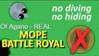 MOPE.IO // #MopeBattleRoyal // DIVING AND HIDING HOLE DISABLED IN SMALL SAFE AREA // TEASER #36