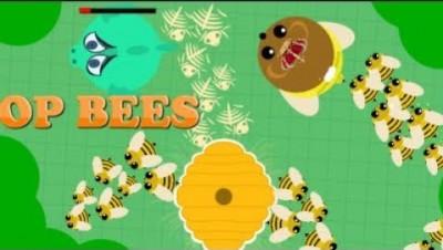 mope.io new Bear buff//BEES kill everything.... //Funny Moments