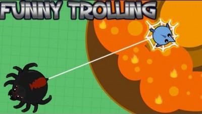 mope.io new black widow spider glitch || Trolling ProZ CrayZ || Funny moments!