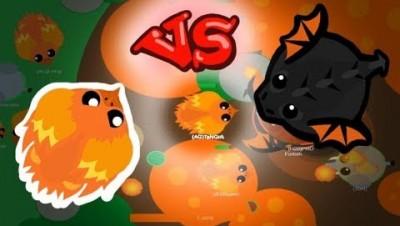 Mope.io Phoenix Kills Black Dragons x2 | Smallest Phoenix Ever | Mope.io New Update