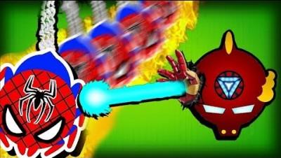MOPE.IO SPIDERMAN & IRONMAN SUPERHEROES & ANIMAL RESCUES MONTAGE!  (Mope.io Skins)