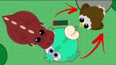 Mope.io - T-REX FEEDS A DRAGON TO EAGLE! (Moving/Trolling Animals Into Butts)