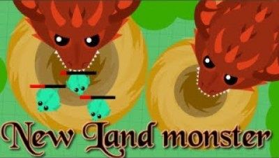 mope.io//new Land monster on beta//funny moments//killing a Land monster 5m