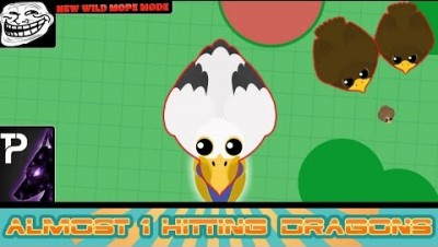 Mope.io《NEW WILD MOPE mode》 Almost instant killing Dragons  with the┃NEW Pelican glitch┃