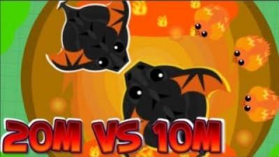 mope.io//pllexx h20//20m BlackDragon vs 10m Epic Fight//new phoenix animation on beta