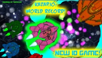 NEW IO GAME - KAZAP.IO [WORLD RECORD!] HUGE FLEET VS. SMALL CUTE FLEETS | FUNNY MOMENTS