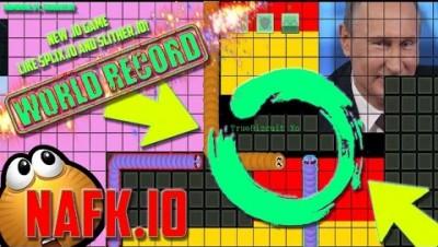 NEW .IO GAME: NAFK.IO (WORLD HIGHEST SCORE: 29,000k) Splix.io Clone
