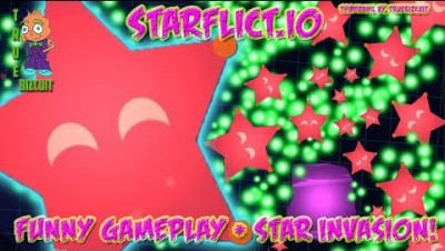 NEW IO GAME !! WORLD'S BIGGEST STAR INVASION [STARFLICT.IO] Funny starflictio gameplay #1