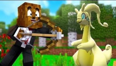 *NEW* Minecraft Light AND Dark Pixelmon Bow Range Minigame - Minecraft Modded Minigame | JeromeASF