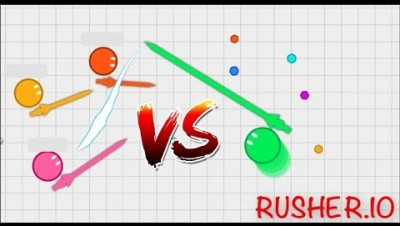 *NEW* Rusher.io // Get the longest SPEAR //New funny .io game // 4K